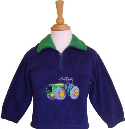British Country Collection Green Tractor Fleece 7-8yrs